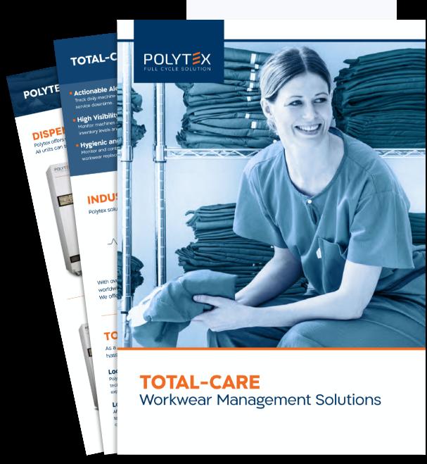 Trouvez des solutions de gestion des uniformes avec le catalogue Polytex Technologies, y compris nos services, produits et technologies de soins complets. Obtenez les données dont vous avez besoin pour impressionner les parties prenantes.