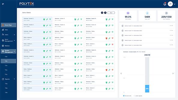 web intuitif accessible par le cloud qui améliore le suivi de l'utilisation