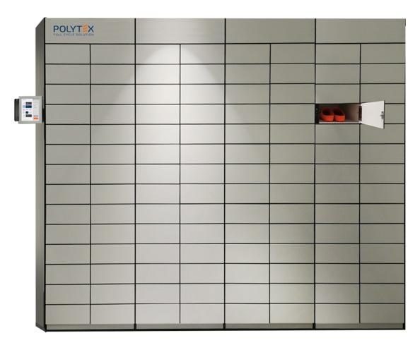 Les unités Polytex Multilocker un lecteur biométrique